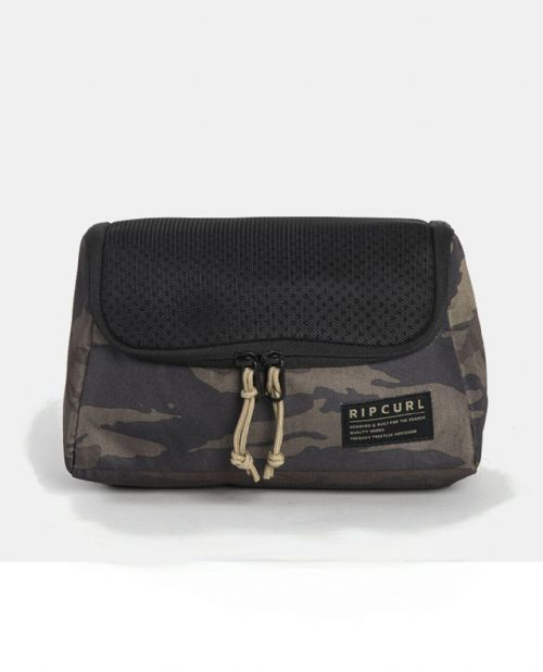 RIP CURL MENS TOILETRY BAG.F-LIGHT CAMO WASH BAG ORGANISER HANGING TRAVEL S20 Z1